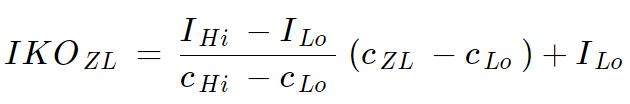 Vzorec pre výpočet IKO